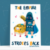 The Empire Strokes Back funny postcard