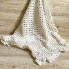 WHITE CROCHET BABY BLANKET In soft baby acrylic yarn