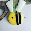 Bee made from fused glass