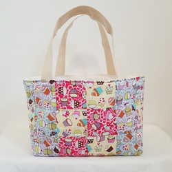 Cupcake Patchwork Lunch Bag Tote Bag