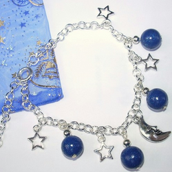 Moon, stars and planet bracelet