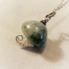 Sterling silver and Green agate Necklace