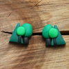 Tiny Forest Stud Earrings