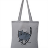 Purrrrrfect! CAT Tote Bag. 100% Cotton. Slate Grey