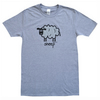 MENS baaah SHEEP T.shirt Cotton blend. Grey. Sizes M-XXL.