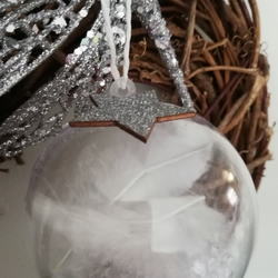 Hand decorated Christmas bauble