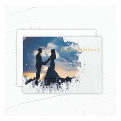 A Happy Couple Congratulations Greeting Card.