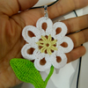 Crochet  Daisy flower necklace