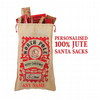 Traditional personalised Santa sack made from 100% jute with vinyl decoration