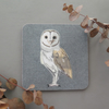 Barn owl coaster