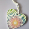 Rainbow Wooden Heart Hanging Decoration