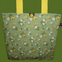 Tote Bag with Daffodils, Great for Mothers Day