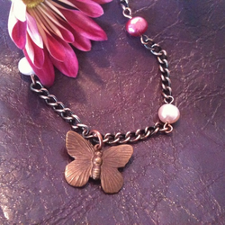 Summer Gardens Butterfly Necklace