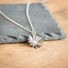 Flower Necklace Handmade from Sterling Silver