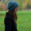 Hand Knit Slouchy Beanie Hat Seaspray