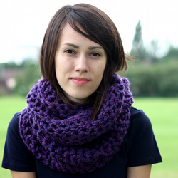 SALE Circle Scarf Infinity Scarf Snood Heather