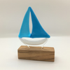 Fused Glass Boat - Turquoise