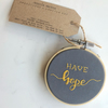 "Handmade, 'Have Hope', 4"" Embroidery Hoop, Gift, Wall Hanging, Custom Design"