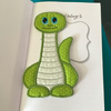 Green Dinosaur Bookmark