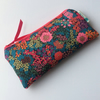 Liberty fabric glasses case, sunglasses pouch, pencil case, handmade in Cornwall