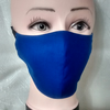 Handmade 3 layers royal blue reusable adult face mask.