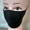 Handmade 3 layers dark brown office reusable adult face mask.