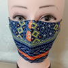 Handmade 3 layers multicoloured reusable adult face mask.