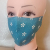 Handmade 3 layers blue flowers reusable adult face mask.