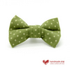 Green Spotty Dog Bow Tie