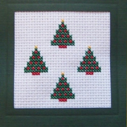 Christmas Trees cross stitch card