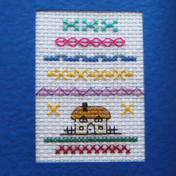 Sampler Cross Stitch Card