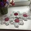 Hand made paper pieced hexagon table mat or coaster.