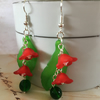 Spring Green garden earrings.