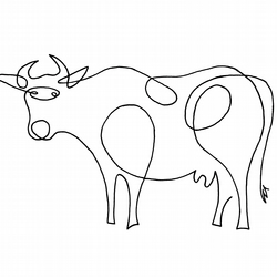 Cow Print - Signed and Mounted
