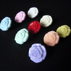 9 Rose Shaped Buttons