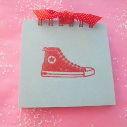 Red Basketball Boot Jotter