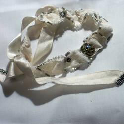 Vintage Lace and ribbon bracelet