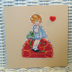 Retro Valentines Card - Be My Valentine