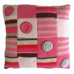 Spirals recycled cushion