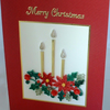 Beautiful quilled Christmas card with quilling