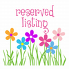Reserved listing for suehaselden -New baby girl congratulations card