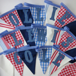 Custom name boys nautical bunting (up to 10 letters)
