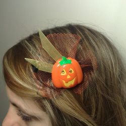Jeremy Pumpkin Halloween fascinator