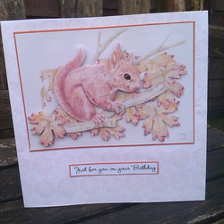 Decoupaged Squirrel