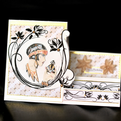 Art Deco Lady in Gold (Stepper Card)