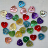 28 x Dinky Heart Shell Buttons (10mm)
