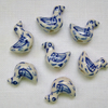 7 x Sweet Bird Ceramic Beads