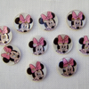 10 x Minnie Mouse Shell Buttons