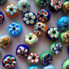 20 x Glass Flower Beads (13mm)