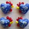Easter Chicken Beads x 4